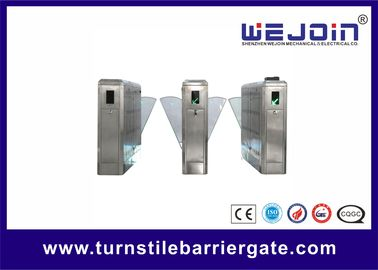 China Access Control Flap Barrier Gate Anti Reversing Turnstile Gate Entry Systems factory