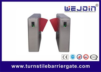 China 304 Stainless Steel Access Control Turnstile Flap Barrier Entry systems factory