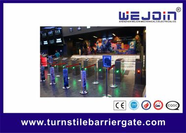 China Full Auto Access Control Flap Barrier Gate Anti reversing Turnstile Entry Systems factory