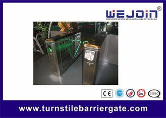 China 900mm Security Flap Barrier Turnstile Entry Systems Bi - direction In Aluminum Alloy factory