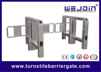 China Portable Single Bridge type Swing Barrier Gate for Pedestrian , Supermarket Swing Gate factory