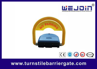 Yellow Remote Control Distance Parking Barrier Gate For Automobile Dealers