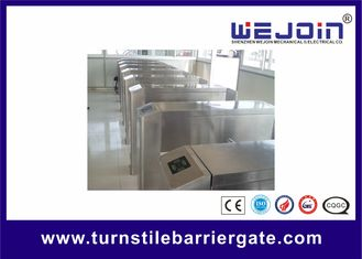 Counter Turnstile Barrier Gate Full Automatic Aluminum Alloy Motor Bi Direction Passing