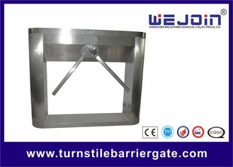Stainless Steel Half Height Turnstile Gate Tripod Access Control Double Direction