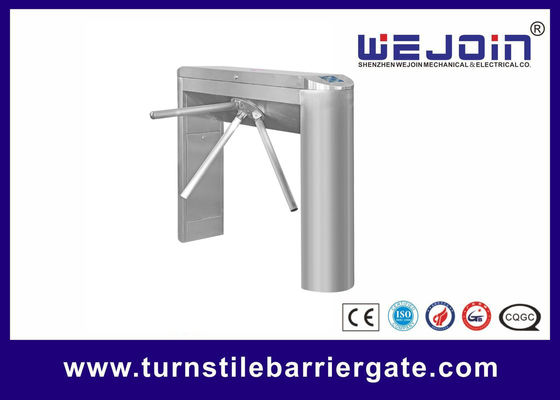 Automatic Pedestrian Access Control Turnstile Gate Waist High 304 Stainless Steel