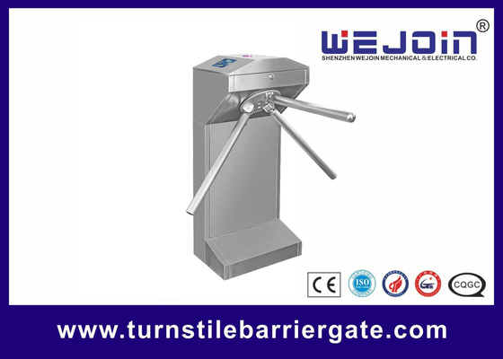 China Waist Height Electronic Turnstile Barrier Gate Bi Directional Passing With Brush DC Motor factory