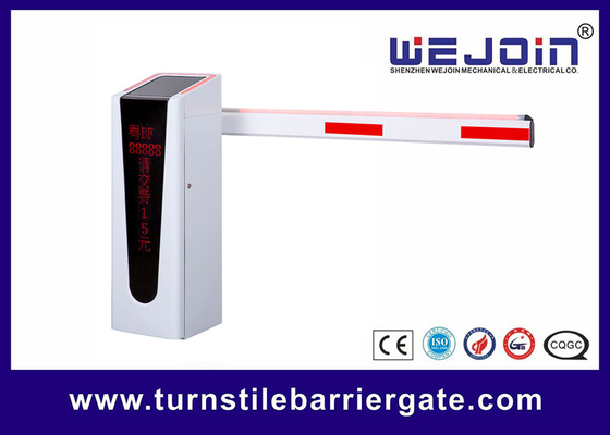 Card Reader Access Parking Barrier Gate Bi - Direction Boom Holder Design