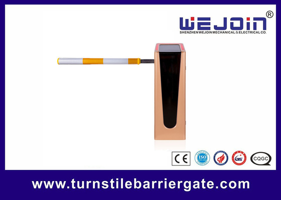 China Flashing Gold Vehicle Boom Parking Barrier Gate Operator For Car Parking System factory