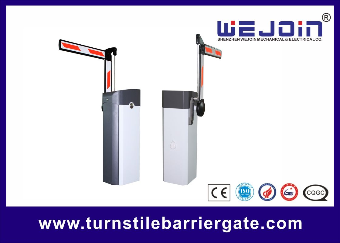 Powder coated boom folding barrier gate vehicle access