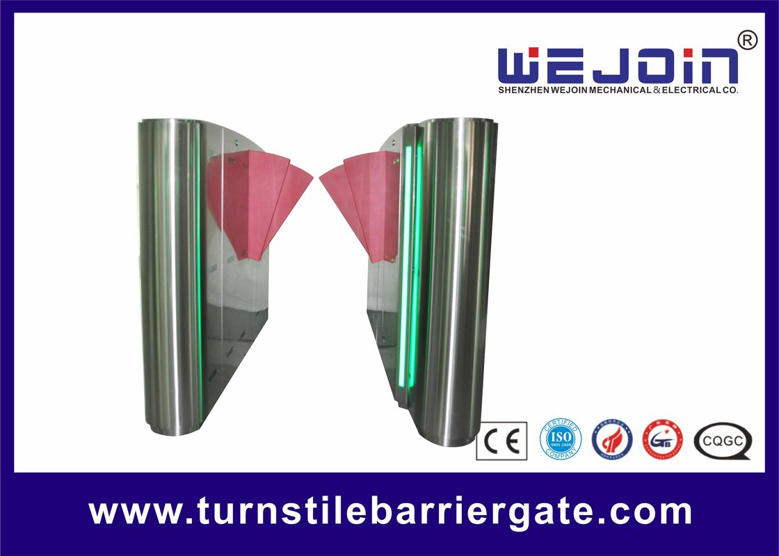 Wing 600mm SST 304 Full automatic Flap Turnstile Barrier Gate supplier