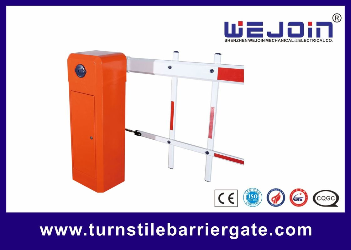 Automated Electronic Car Park Barrier Gate Arm With Die Casting Aluminum Alloy Motor
