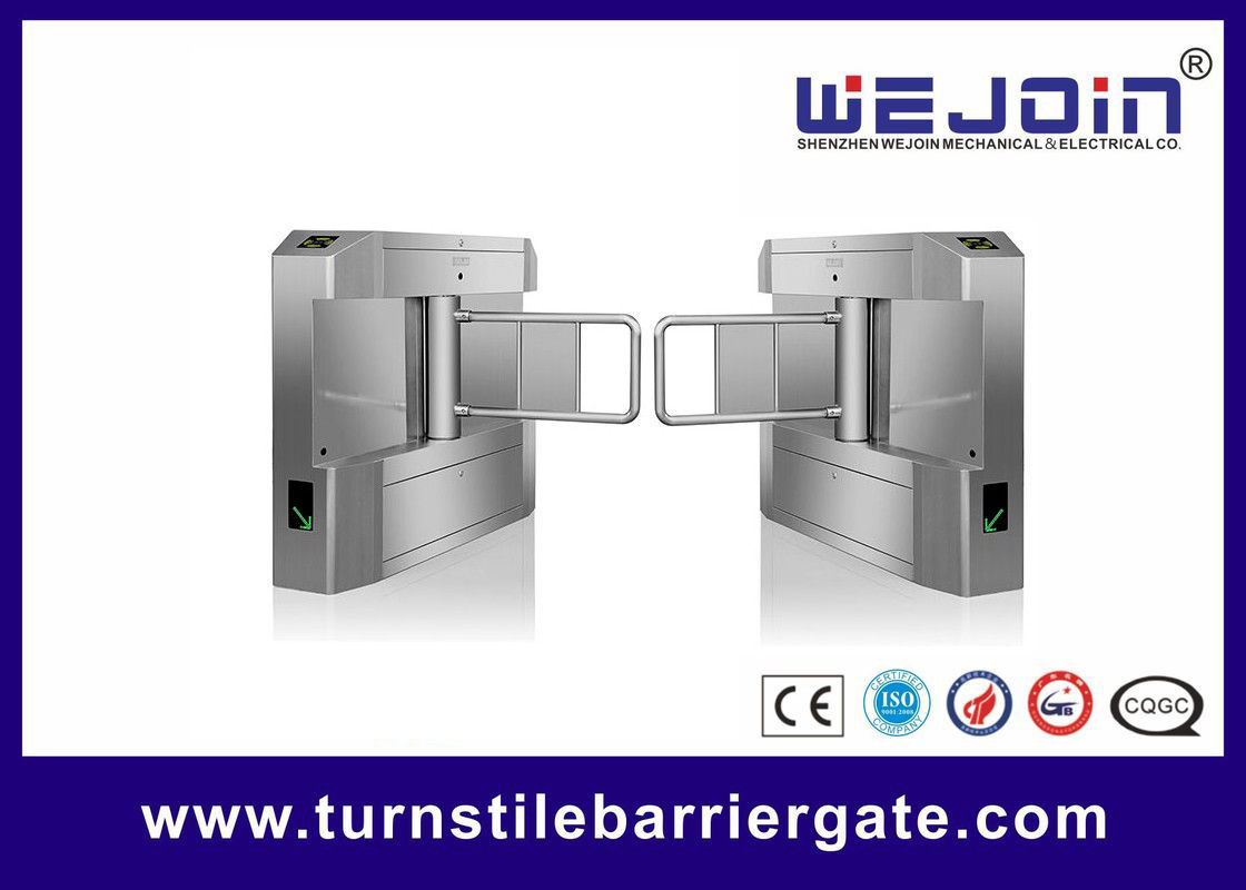 Building Access Control Swing Barrier Gate NO Voice Anti Collision Brushless Motor supplier