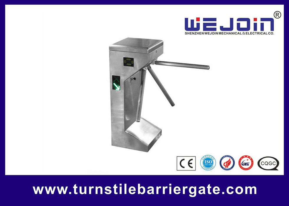 Traffic Light Indicator Turnstile Barrier Gate Stainless Steel Housing With Smart Card
