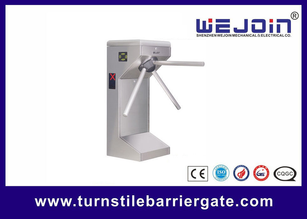 Full Automatic Counter Tripod Turnstile Gates , Pedestrian Security Gate DC 12V supplier