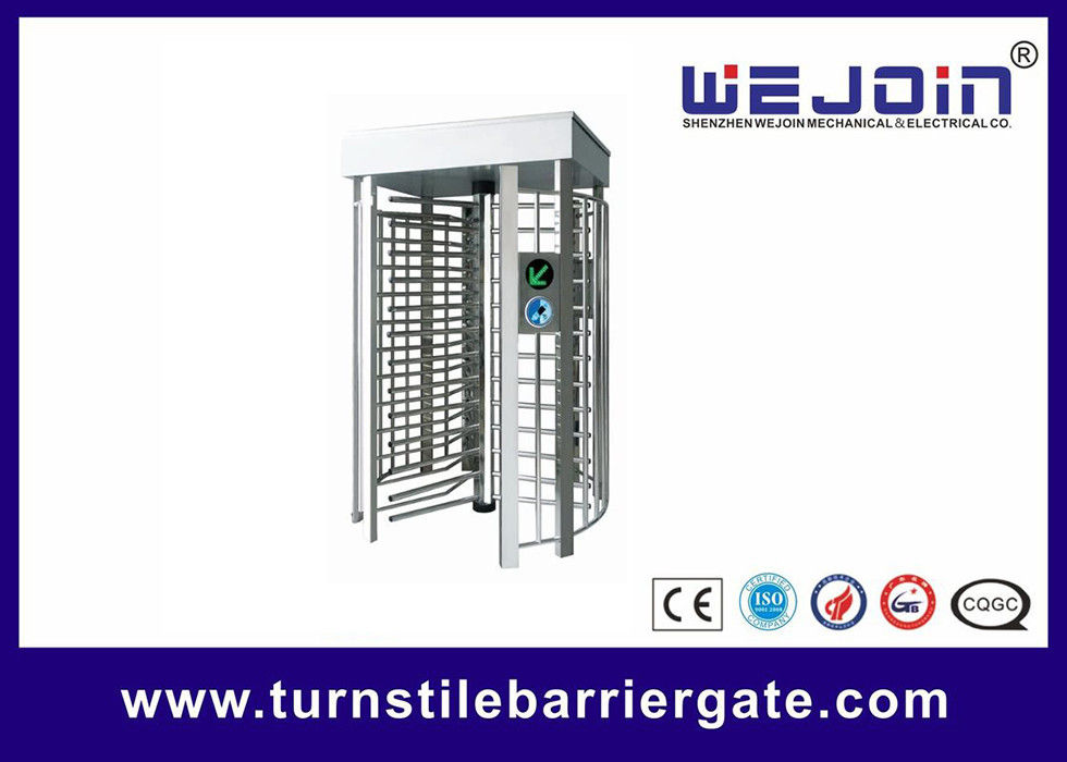 Pedestrian Full Height Access Control Turnstile Gate Digital Transmission With PC Control supplier