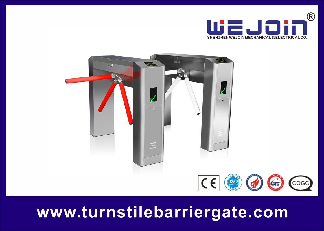 110V/220V Tripod Turnstile Barrier Gate Automatic Double Direction For Access Control
