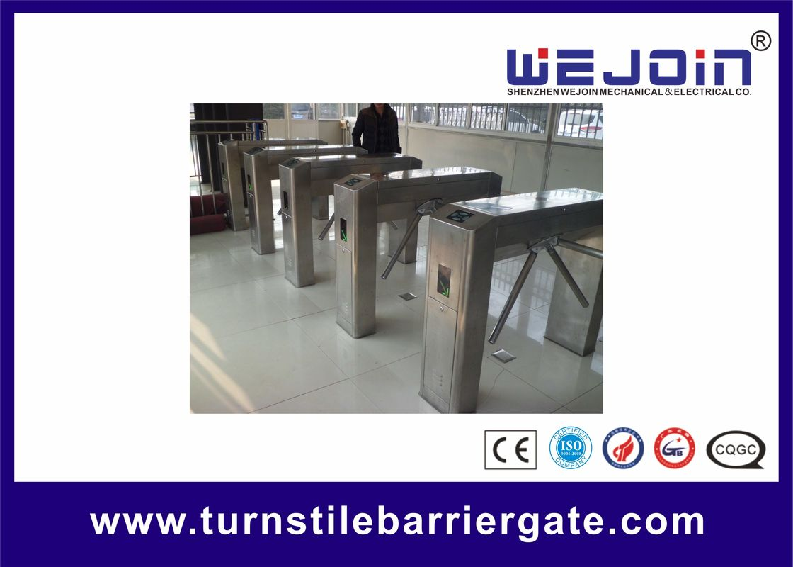 Stainless Steel Housing Automatic Tripod Turnstile Gate With Traffice Light Indicator