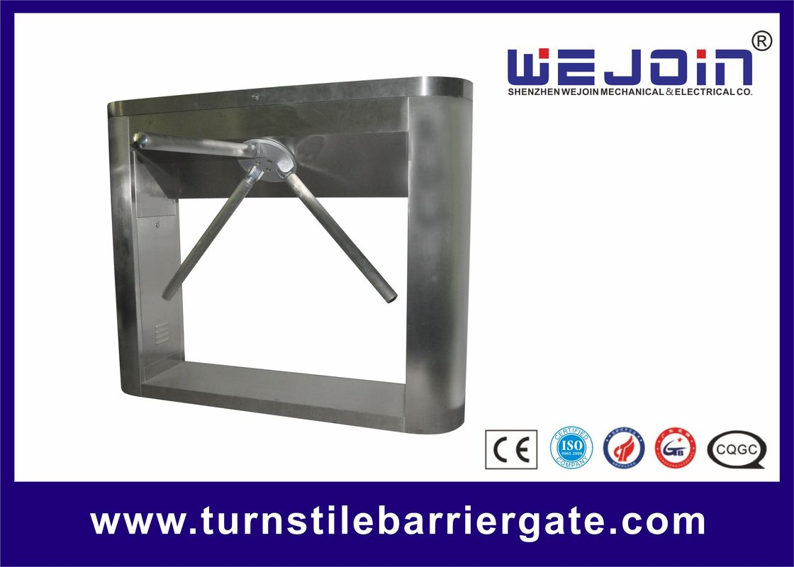 DC Motor Tripod Turnstile Gate No Exposed Screws / Fasteners Double Direction 50/60HZ supplier