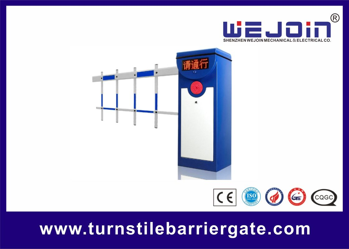 Parking Lot Boom Vehicle Barrier Gates , Automatic Gate Barrier System Steel Housing