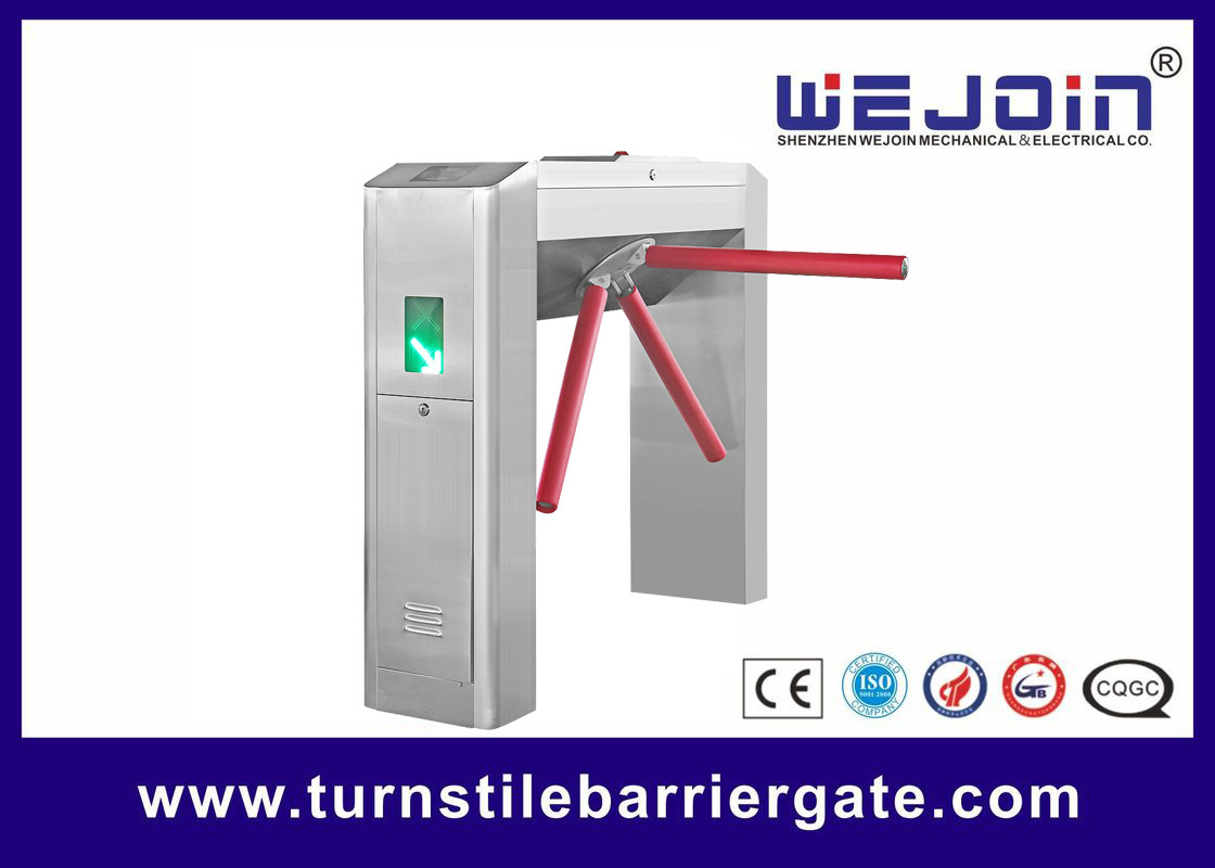 RFID Card Pedestrian Barrier Turnstile Gate Automatic With Traffic Light Indicator supplier