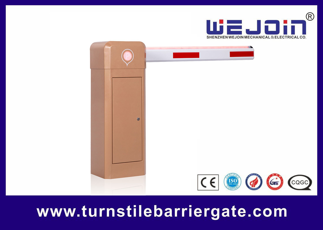 Traffic Access Road LED Boom Vehicle Barrier Gates Steel Housing For Car Parking Lot supplier