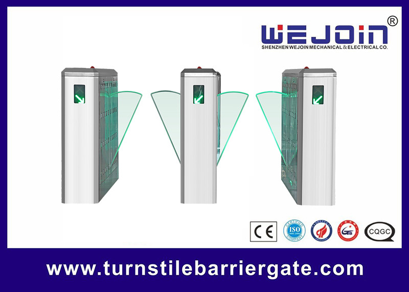 Access Control Flap Barrier Half Height Turnstile Stainless Steel For School supplier