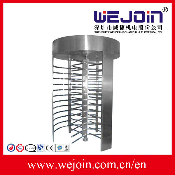 Electronic pedestrian security full height turnstile gate