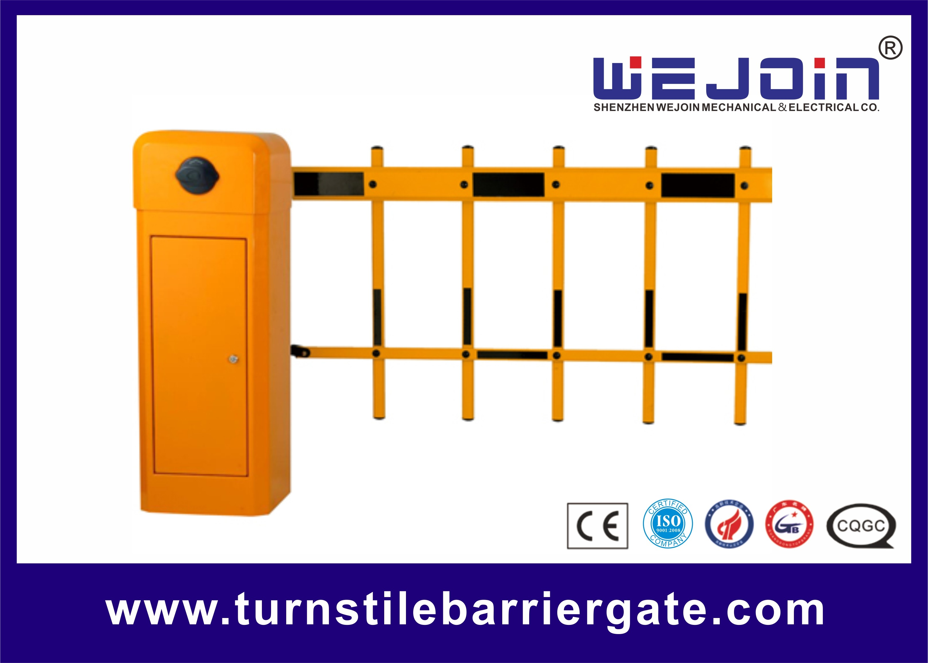 Long Arm Boom Parking Barrier Gate , Tubular Barrier Gates 1s 1 8s 3s 6s