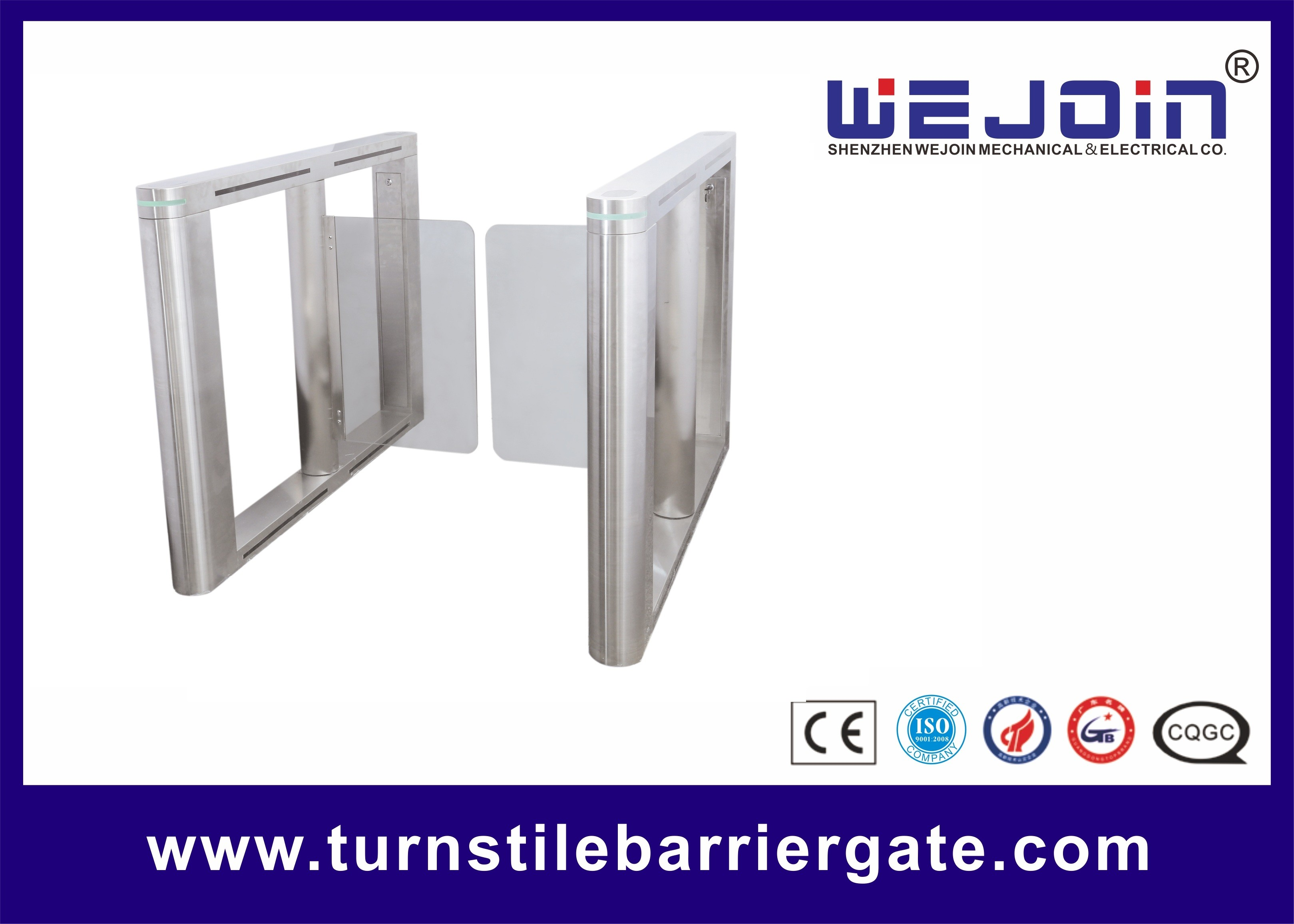 Automatic Swing Barrier Gate Integrated with Card Readers
