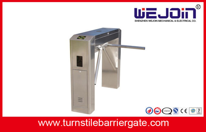 RFID Card Pedestrian Barrier Turnstile Gate Automatic With Traffic Light Indicator